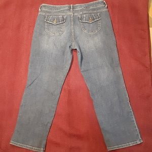*4/$20* Simply Vera cropped straight jeans sz 12